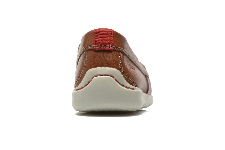 Snörade skor Clarks Karlock Step Brun Bild från höger sidan