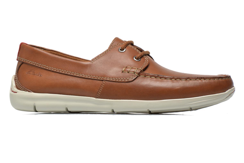 Snörade skor Clarks Karlock Step Brun bild från baksidan