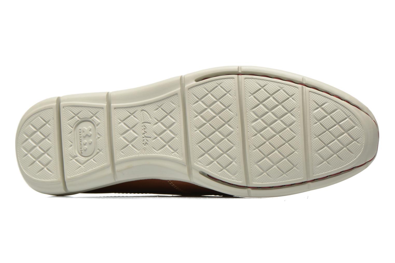 Chaussures à lacets Clarks Karlock Step Marron vue haut
