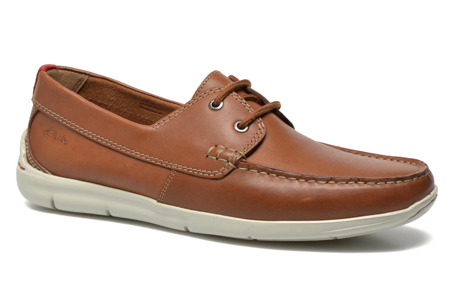 Lace-up shoes Clarks Karlock Step Brown detailed view/ Pair view