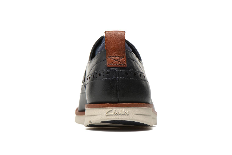 Zapatos con cordones Clarks Trigen Limit Azul vista lateral derecha