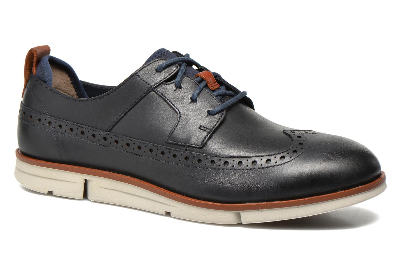 Chaussures à lacets Clarks Trigen Limit Bleu vue détail/paire