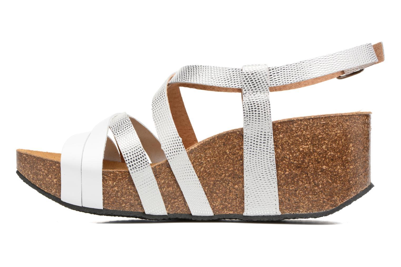 Sandales et nu-pieds Plakton So song Blanc vue face