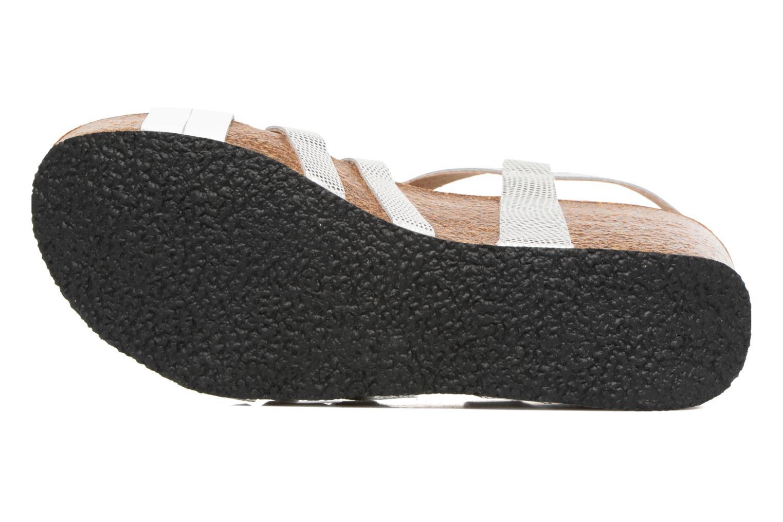 Sandales et nu-pieds Plakton So song Blanc vue haut