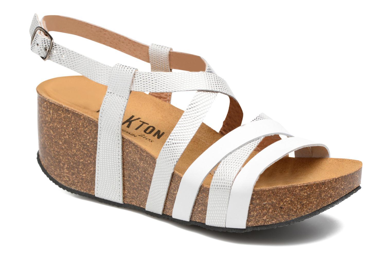 Sandales et nu-pieds Plakton So song Blanc vue détail/paire
