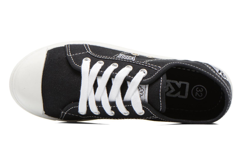 Sneaker Kappa Keysy Kid schwarz ansicht von links
