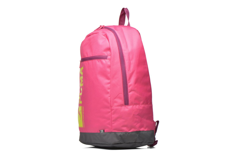 Rucksäcke Puma Pioneer backpack I rosa schuhe getragen