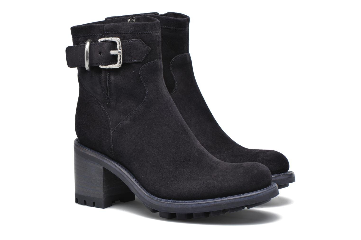 Bottines et boots Free Lance Justy 7 Small Gero Buckle Bleu vue 3/4