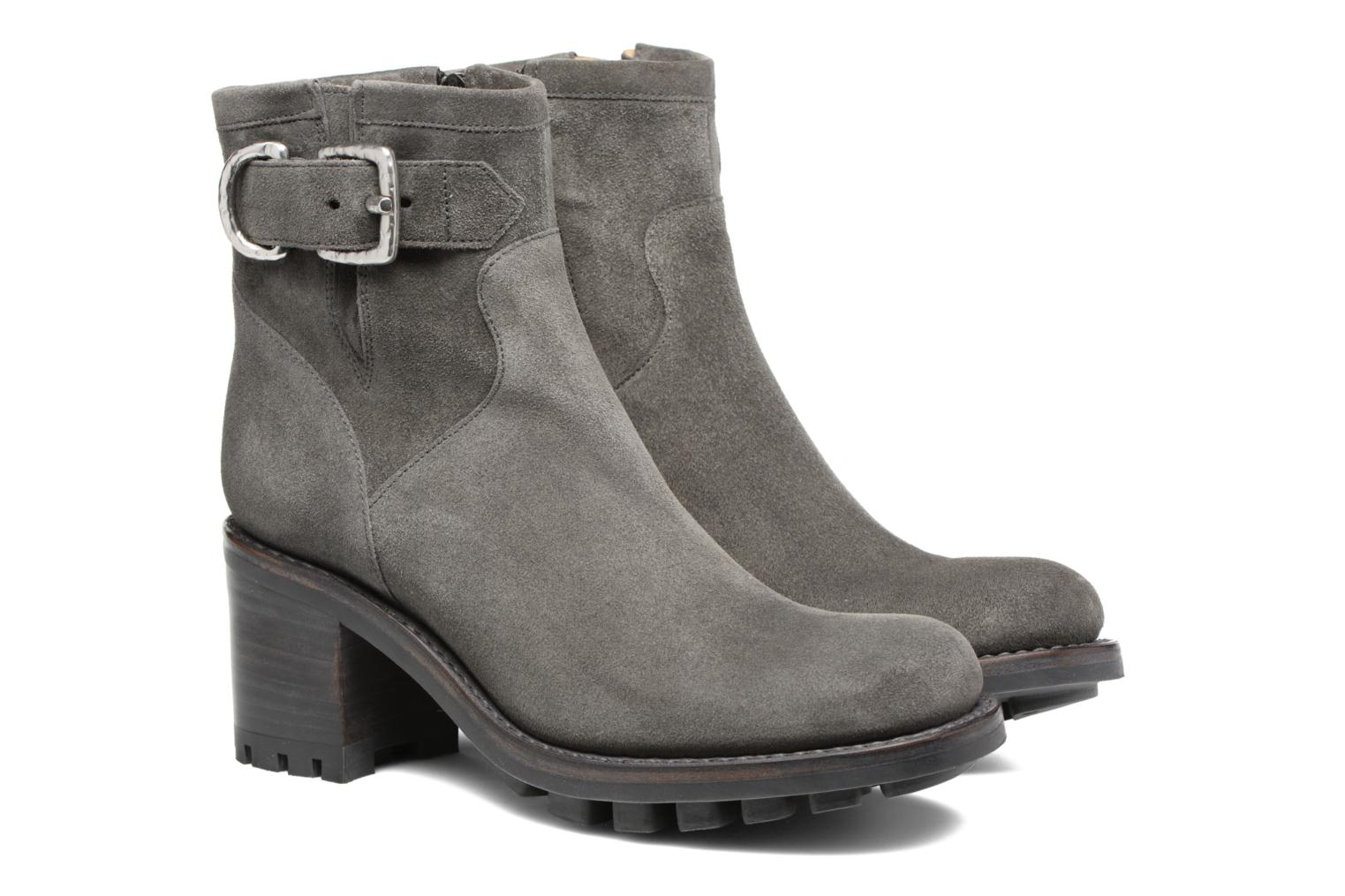 Bottines et boots Free Lance Justy 7 Small Gero Buckle Gris vue 3/4