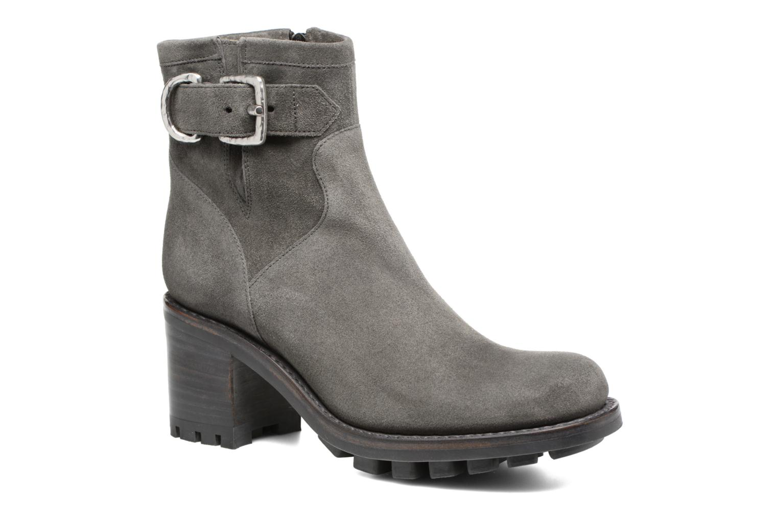 Ankle boots Free Lance Justy 7 Small Gero Buckle Grey detailed view/ Pair view