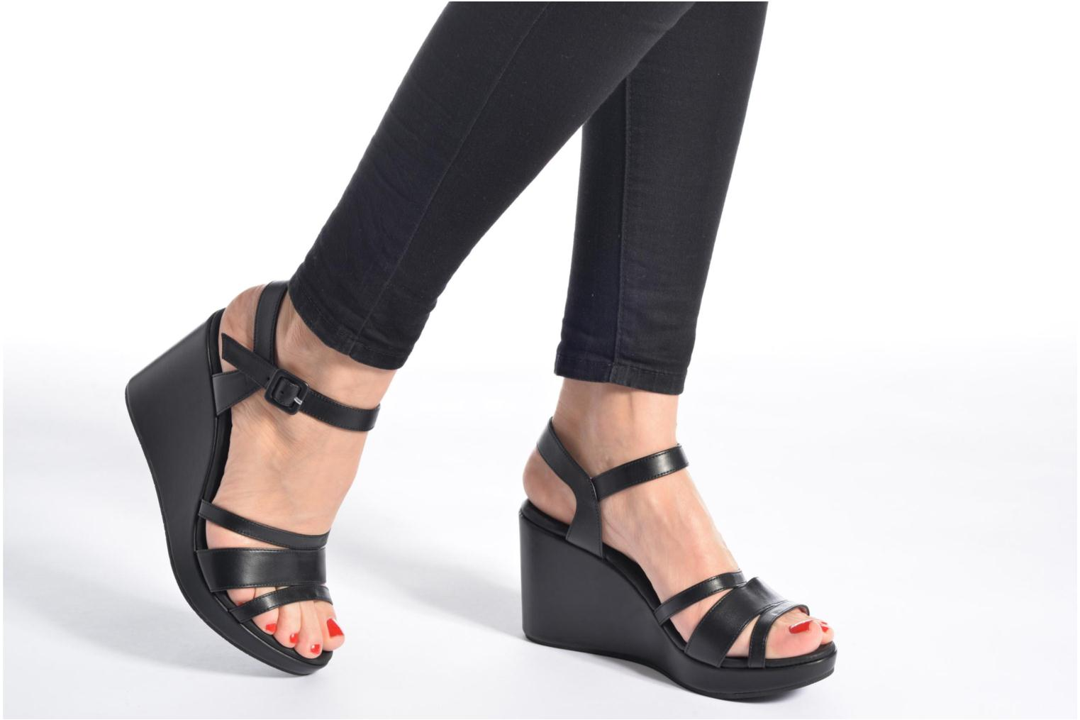 Sandals Free Lance Ystad 7 Sandal Black view from underneath / model view