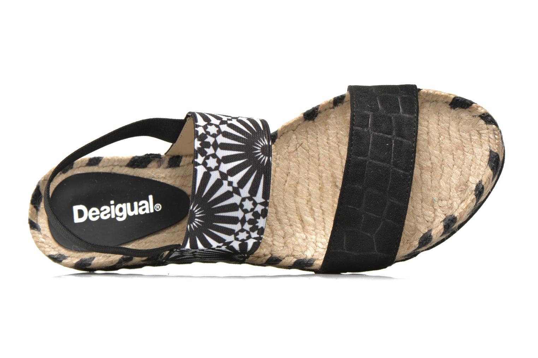 Sandalias Desigual SHOES_ FORMENTERA Negro vista lateral izquierda