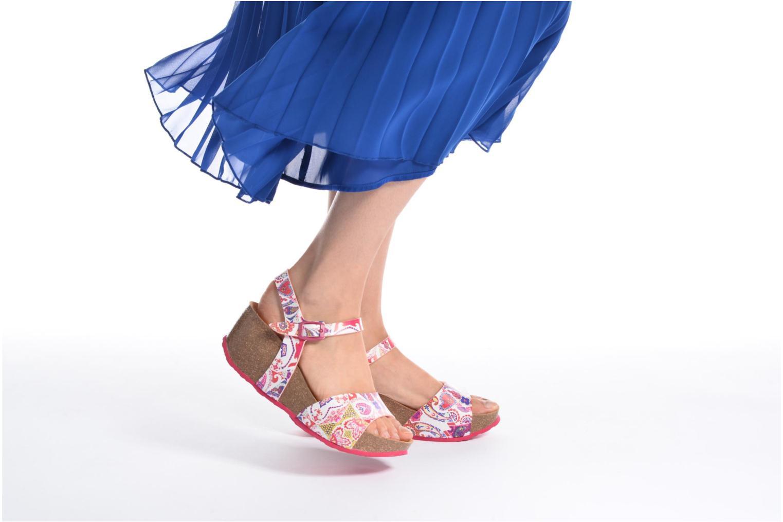 Sandales et nu-pieds Desigual SHOES_BIO 7 Rose vue bas / vue portée sac