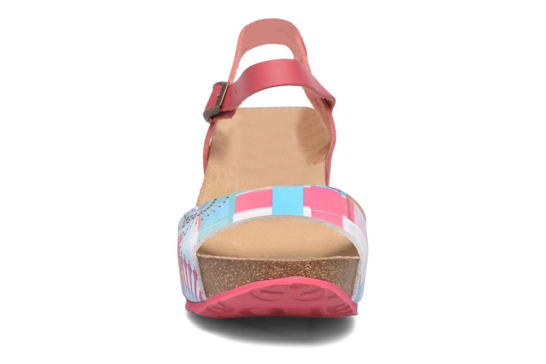 Sandales et nu-pieds Desigual SHOES_BIO 7 Rose vue portées chaussures