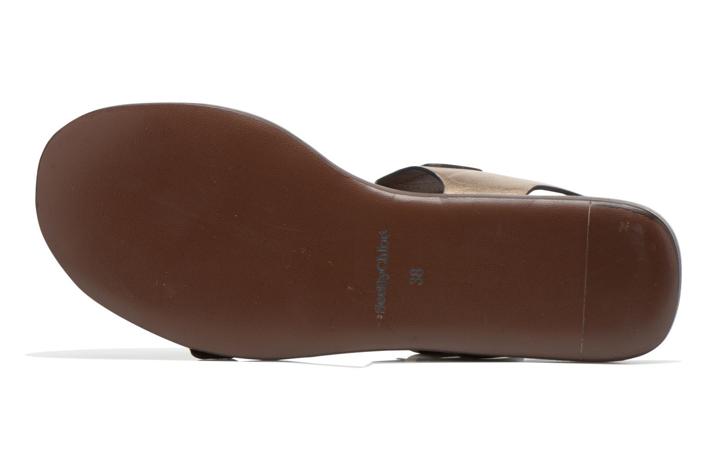 Sandales et nu-pieds See by Chloé Hiho Or et bronze vue haut
