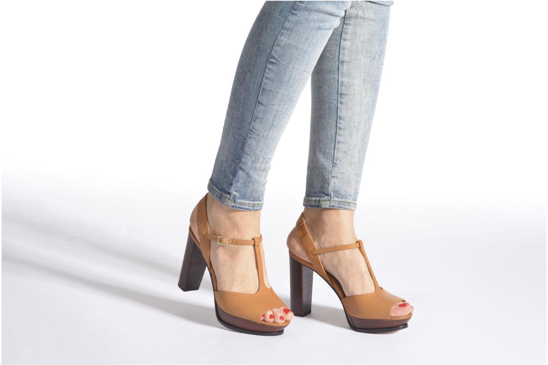 Sandales et nu-pieds See by Chloé Bury Marron vue bas / vue portée sac