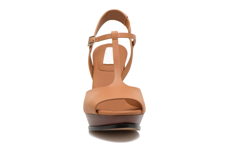 Sandales et nu-pieds See by Chloé Bury Marron vue portées chaussures
