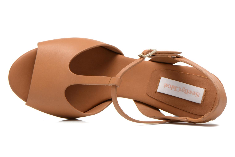 Sandales et nu-pieds See by Chloé Bury Marron vue gauche