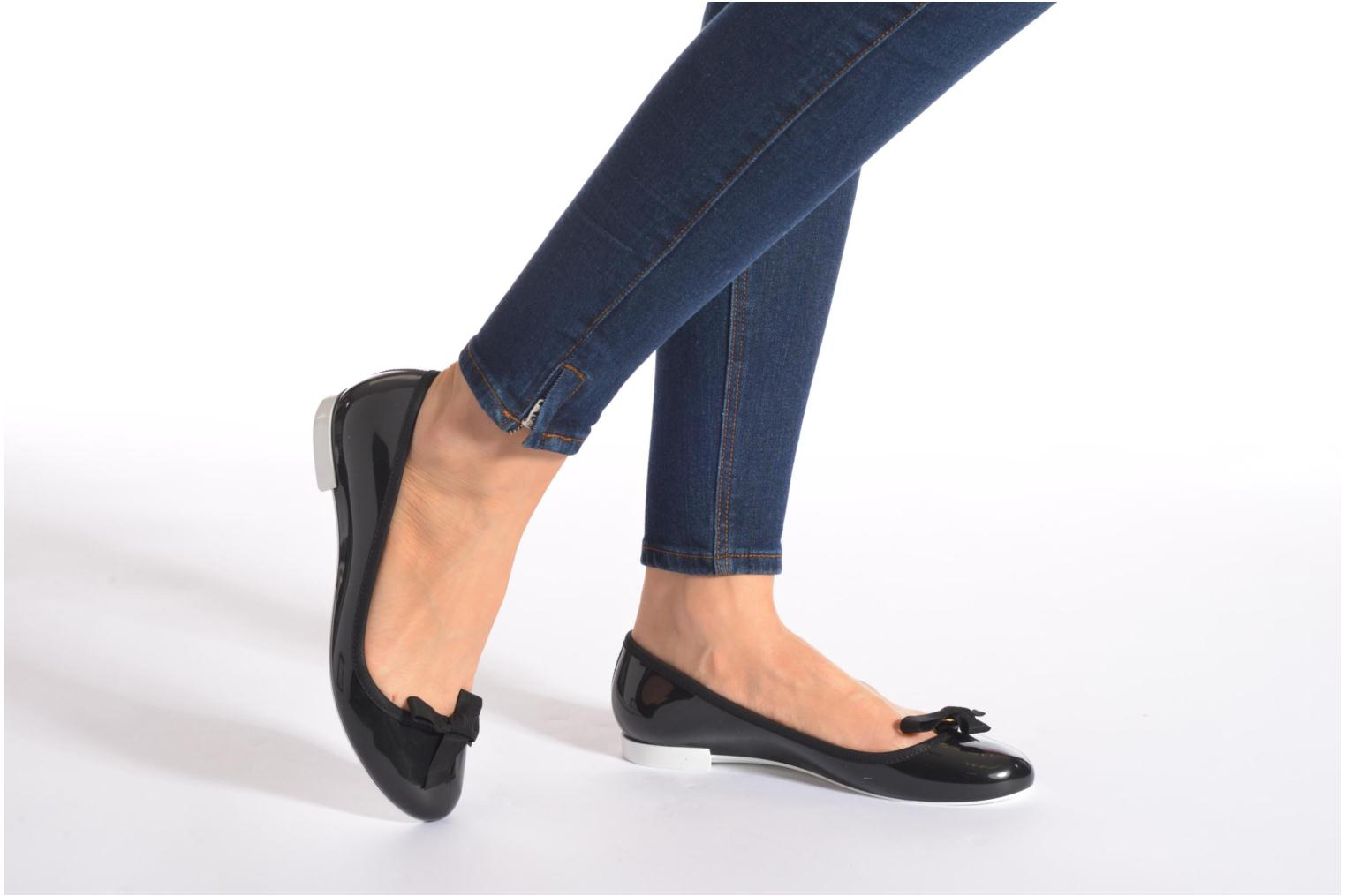 Ballet pumps Lemon Jelly Bow Black view from underneath / model view
