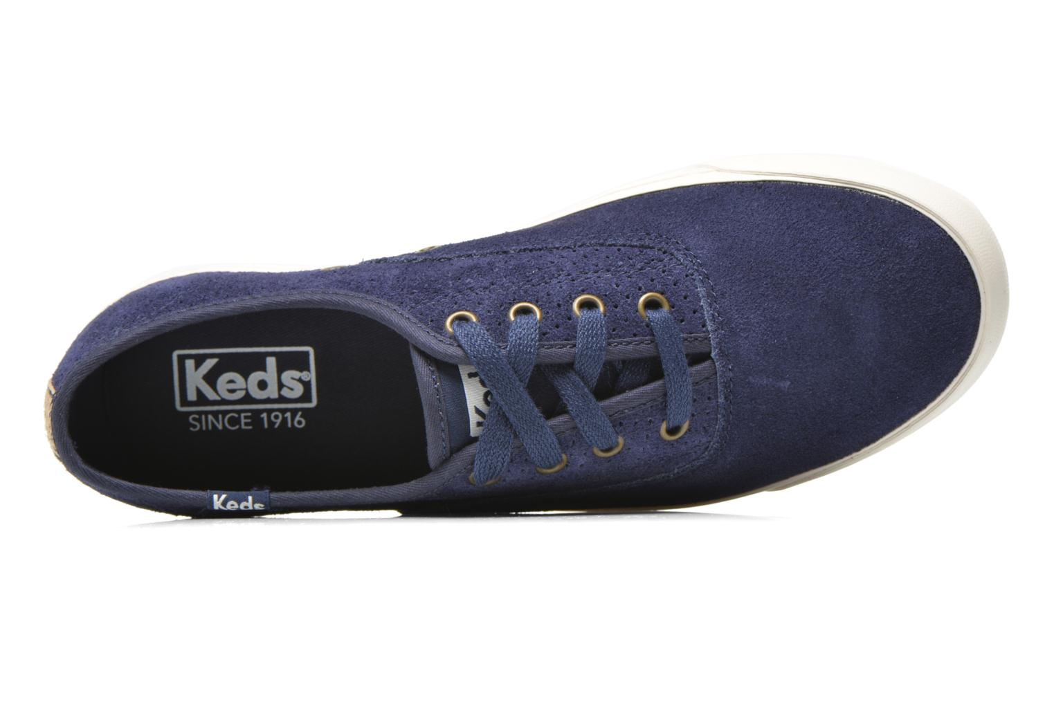 Trainers Keds Triumph 28 retro sport Blue view from the left