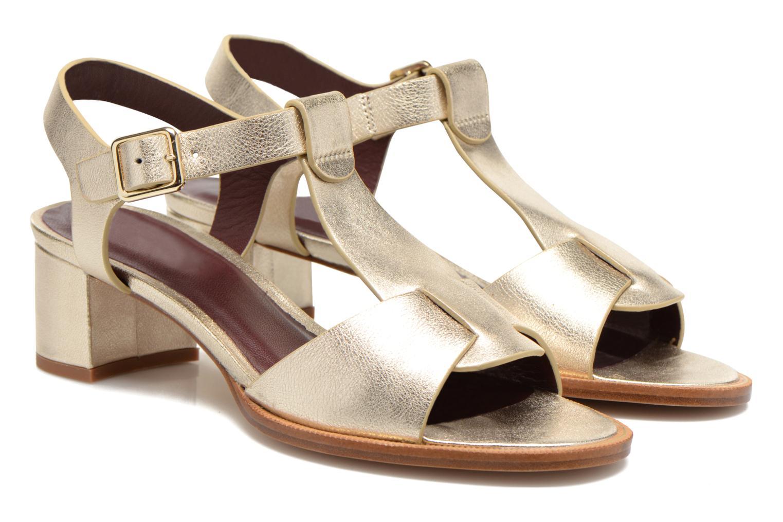 Sandales et nu-pieds Avril Gau Paty Or et bronze vue 3/4