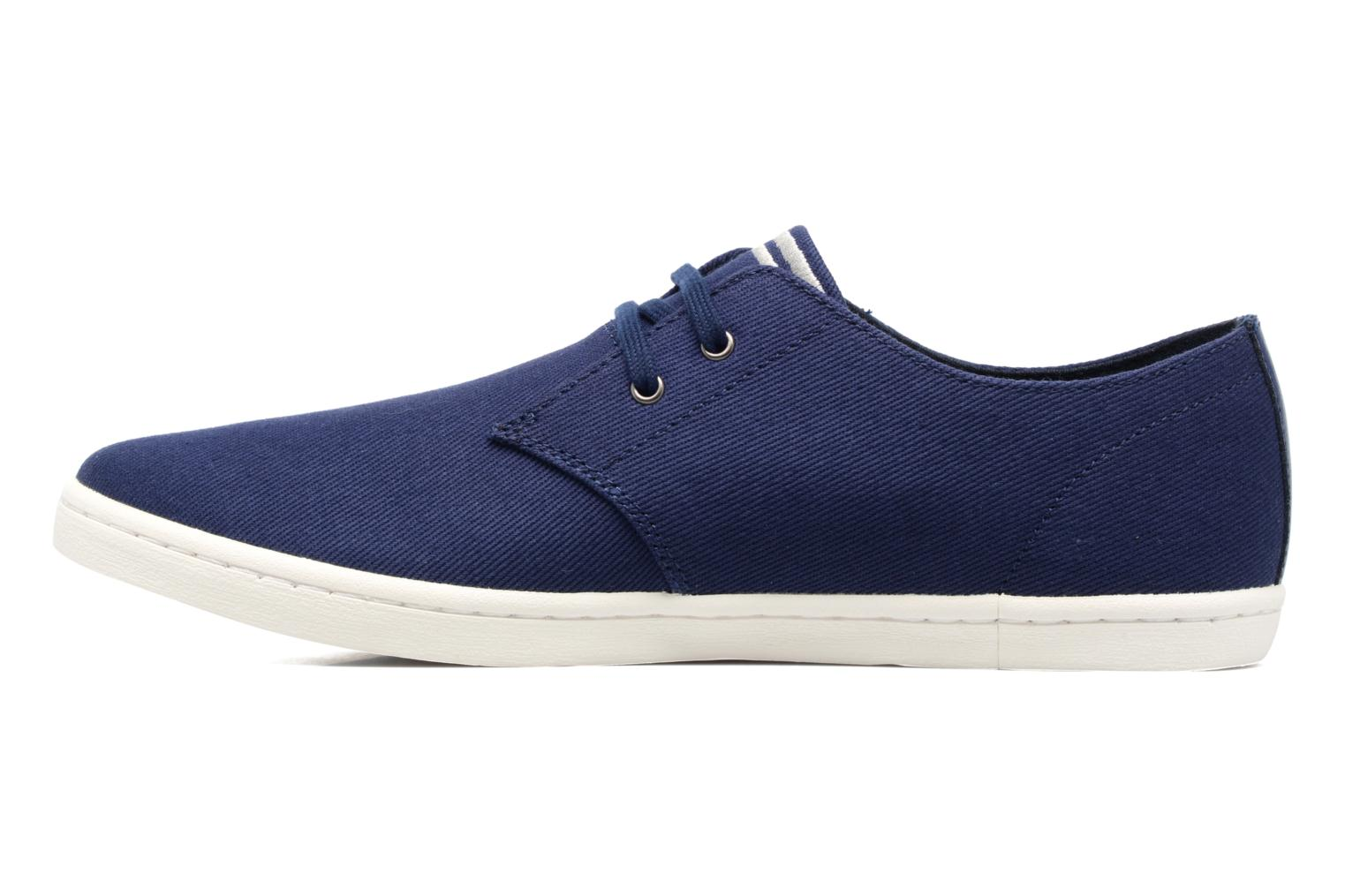 Baskets Fred Perry Byron Low Twill Bleu vue face
