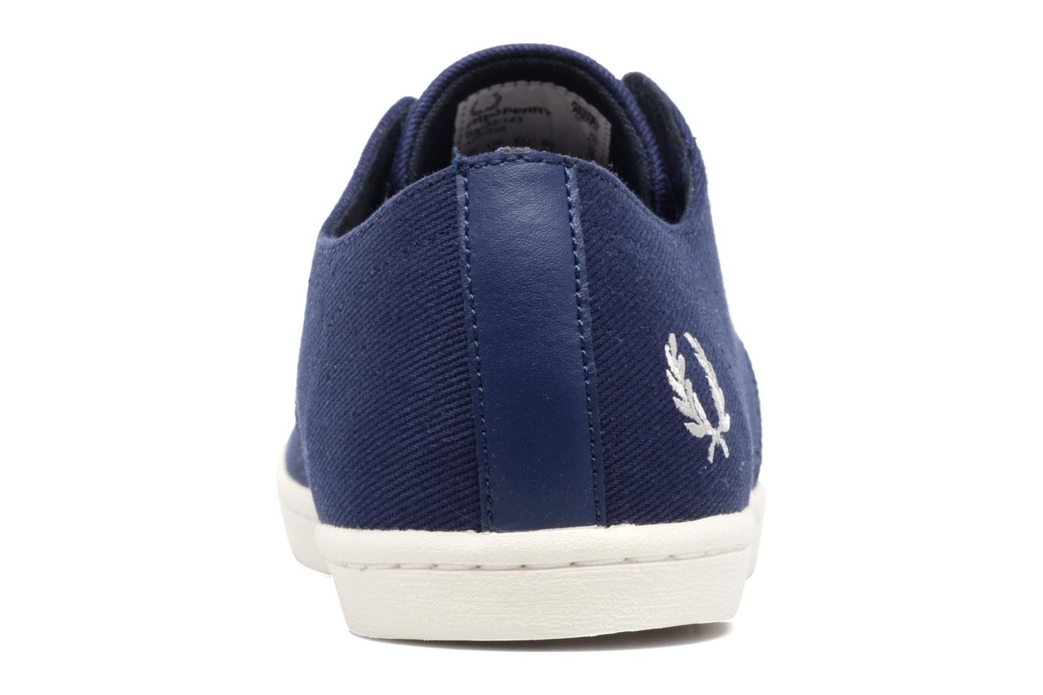 Baskets Fred Perry Byron Low Twill Bleu vue droite