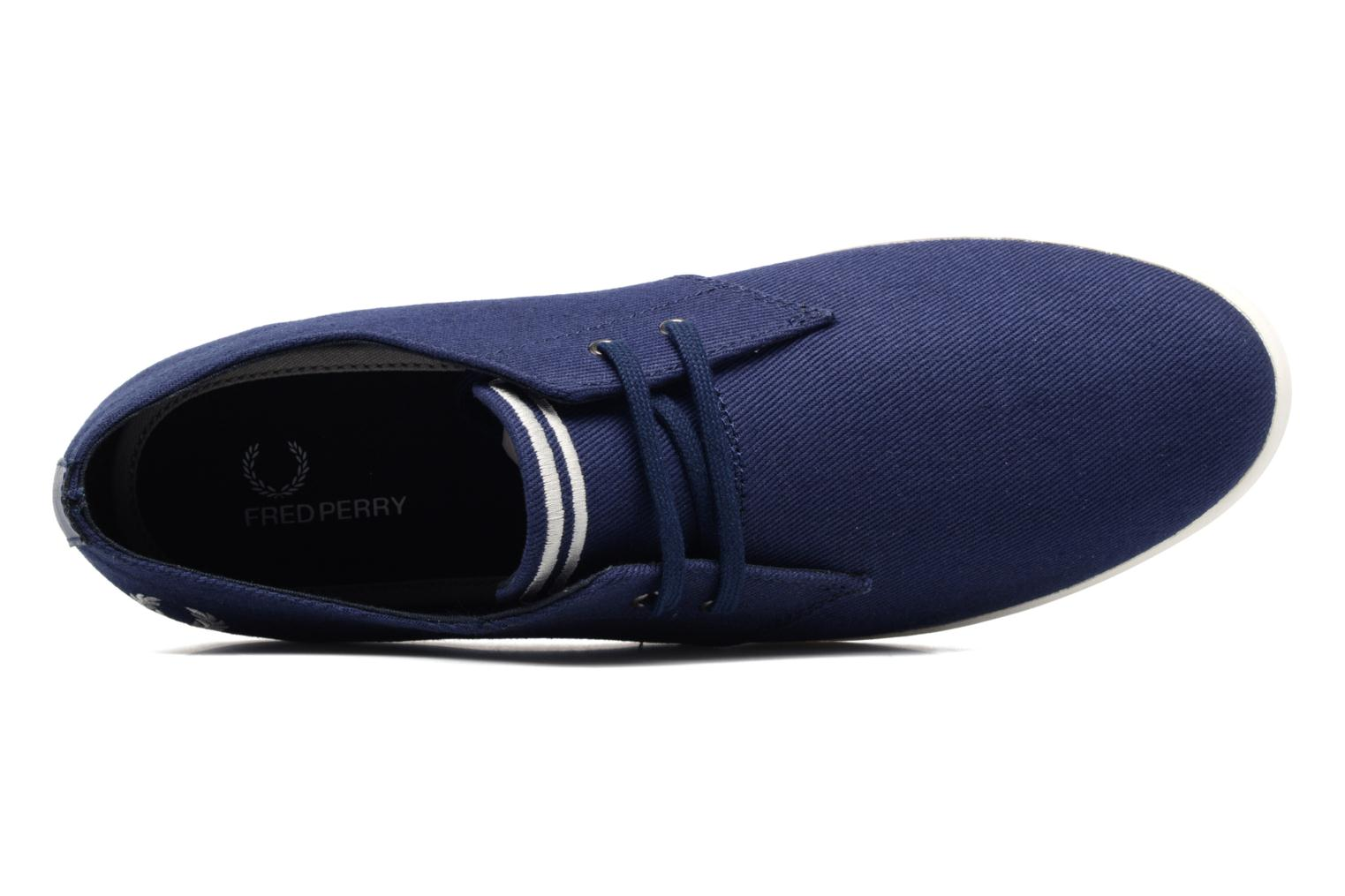 Baskets Fred Perry Byron Low Twill Bleu vue gauche