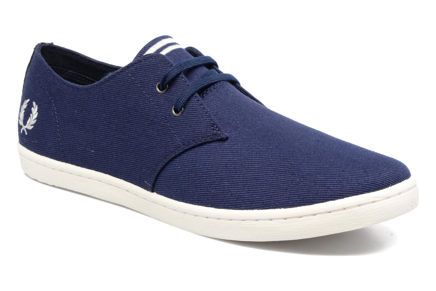 Baskets Fred Perry Byron Low Twill Bleu vue détail/paire