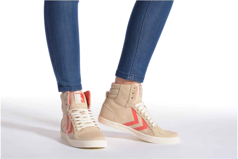 Sneakers Hummel Ten Star Smooth Hi Beige immagine dal basso