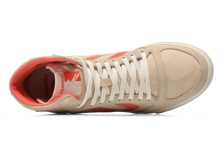 Sneakers Hummel Ten Star Smooth Hi Beige immagine sinistra