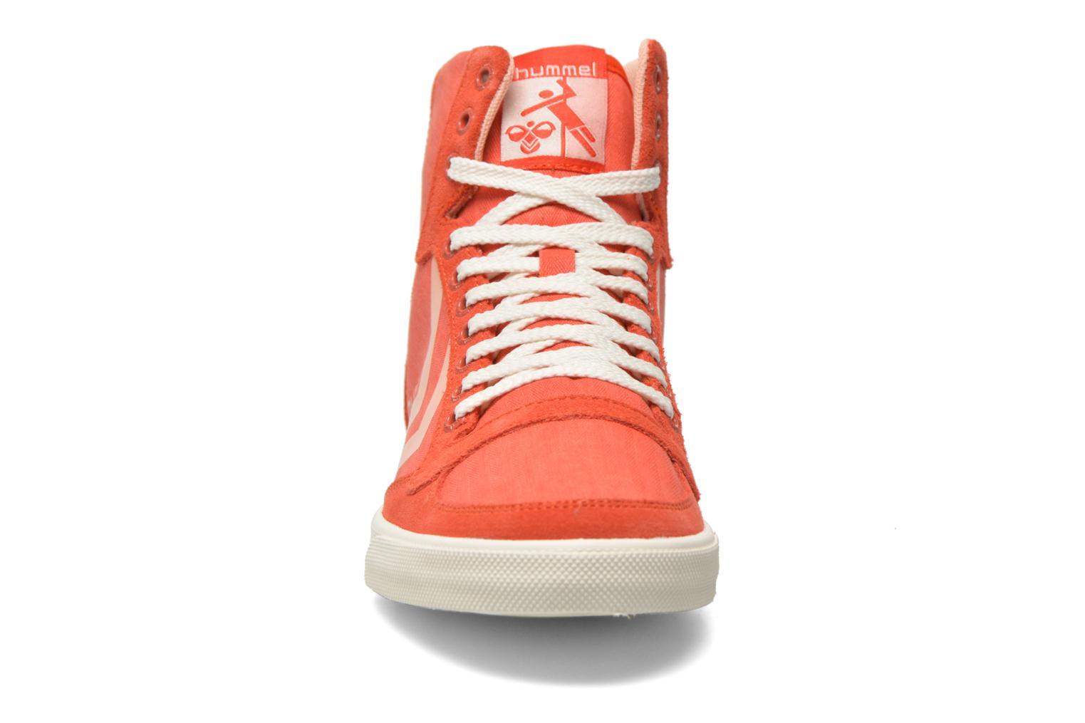 Trainers Hummel Ten Star Smooth Hi Red model view