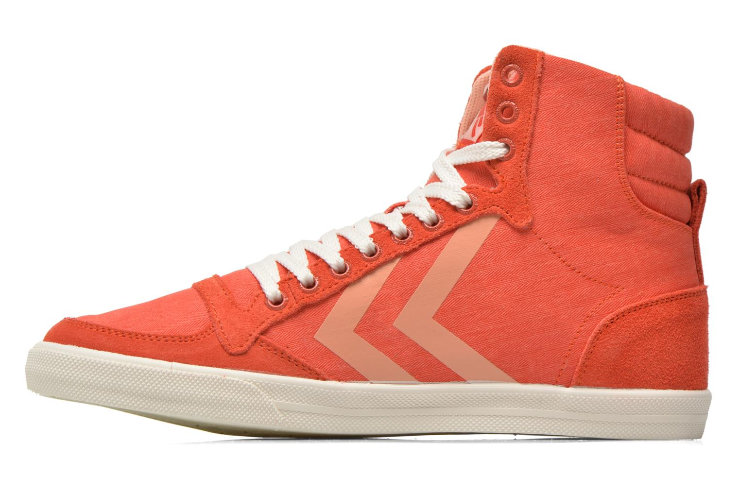 Trainers Hummel Ten Star Smooth Hi Red front view