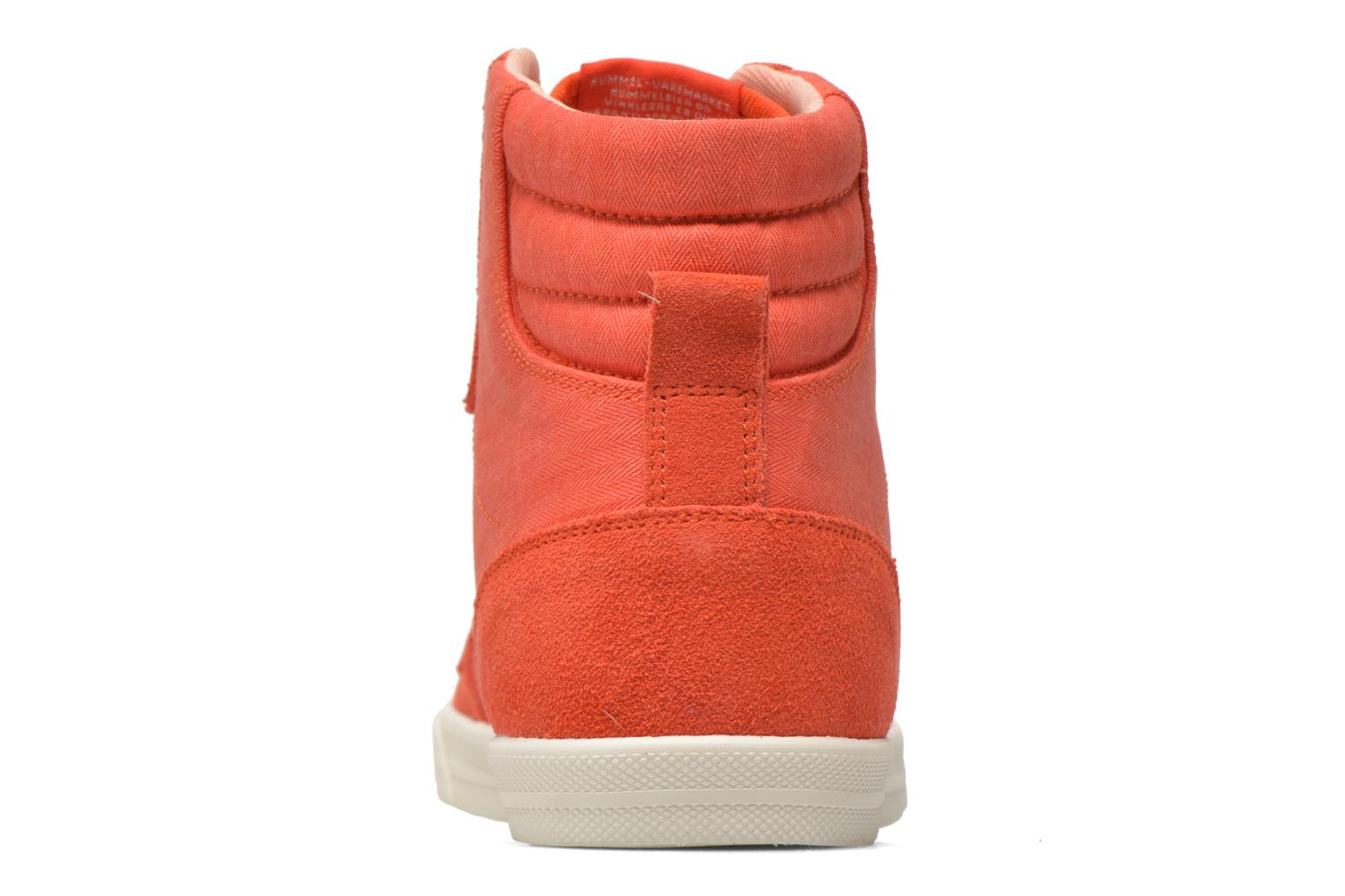 Baskets Hummel Ten Star Smooth Hi Rouge vue droite