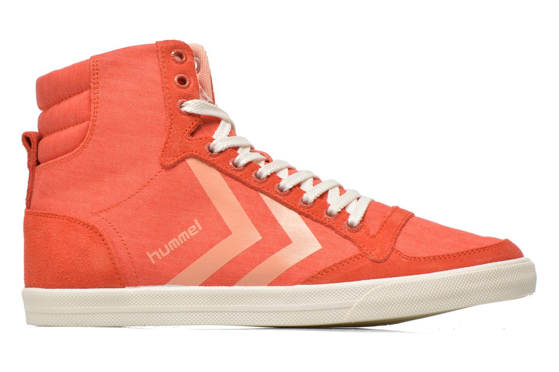 Sneakers Hummel Ten Star Smooth Hi Rød se bagfra