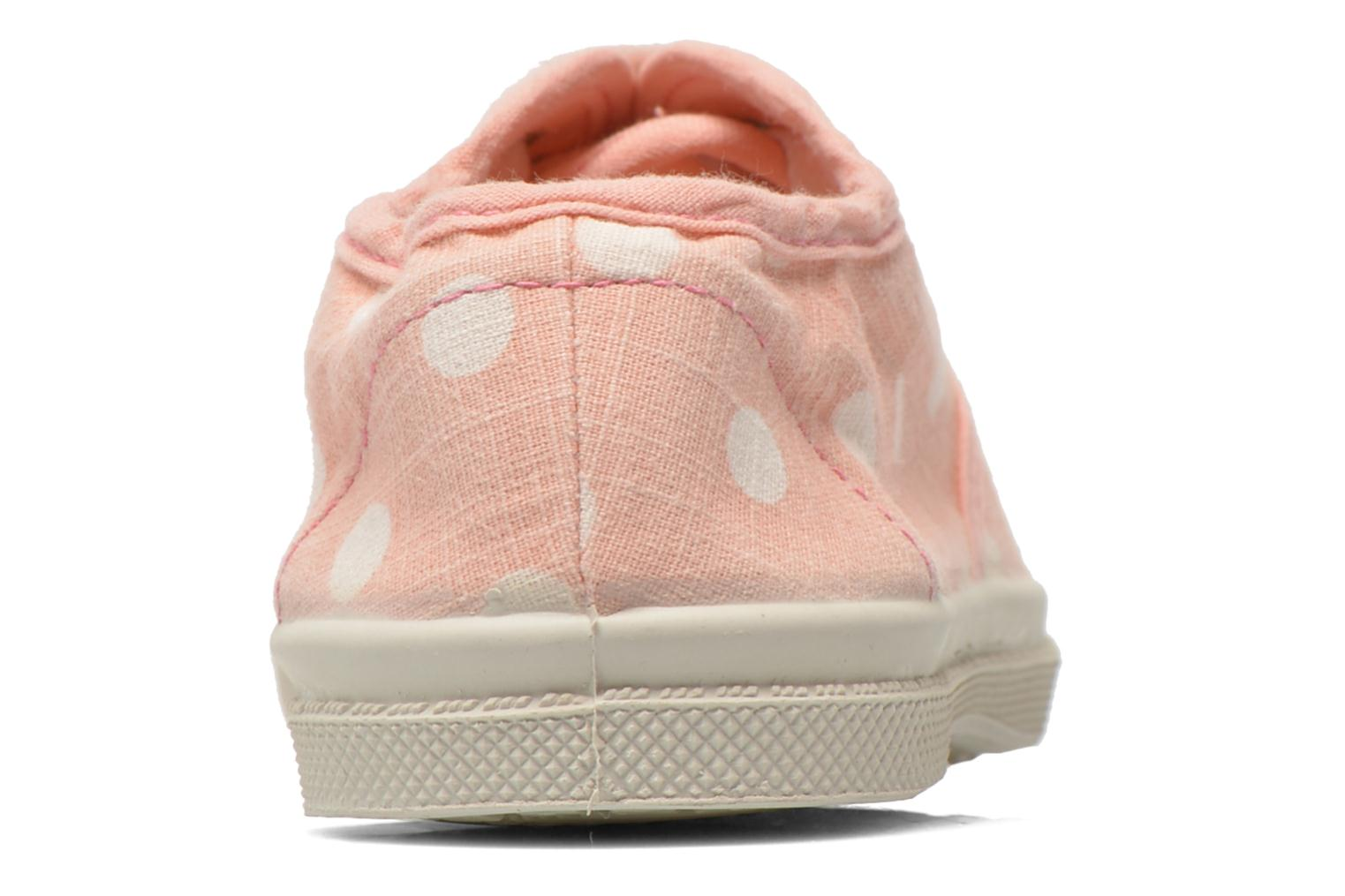 Trainers Bensimon Tennis Lacets Pastel Pastilles E Pink view from the right