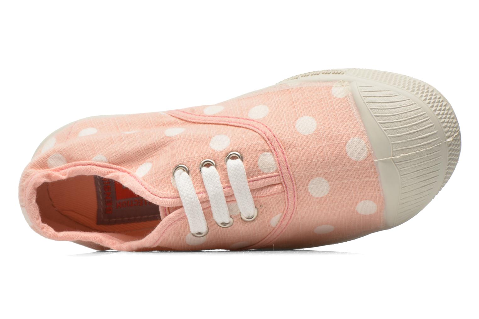 Trainers Bensimon Tennis Lacets Pastel Pastilles E Pink view from the left