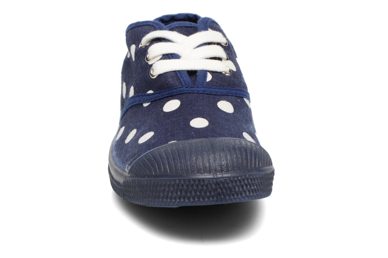 Baskets Bensimon Tennis Lacets Pastel Pastilles E Bleu vue portées chaussures
