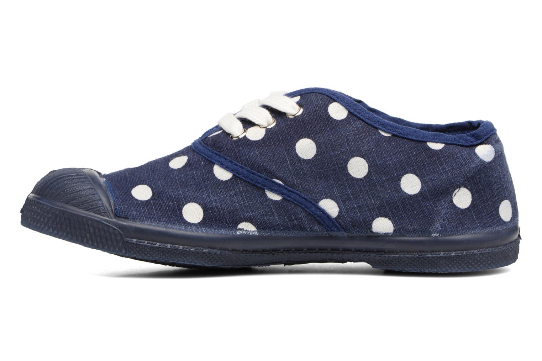 Sneakers Bensimon Tennis Lacets Pastel Pastilles E Blå se forfra