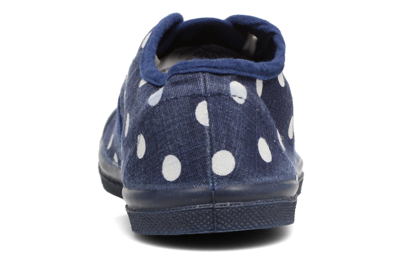 Sneakers Bensimon Tennis Lacets Pastel Pastilles E Blauw rechts