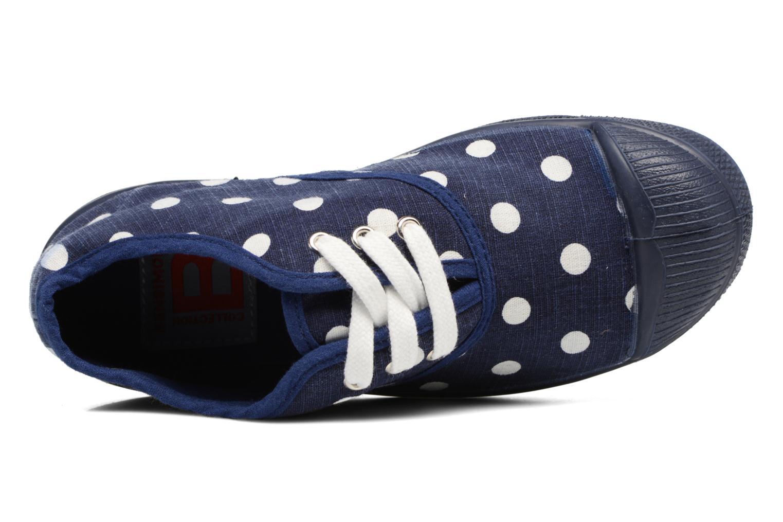 Deportivas Bensimon Tennis Lacets Pastel Pastilles E Azul vista lateral izquierda
