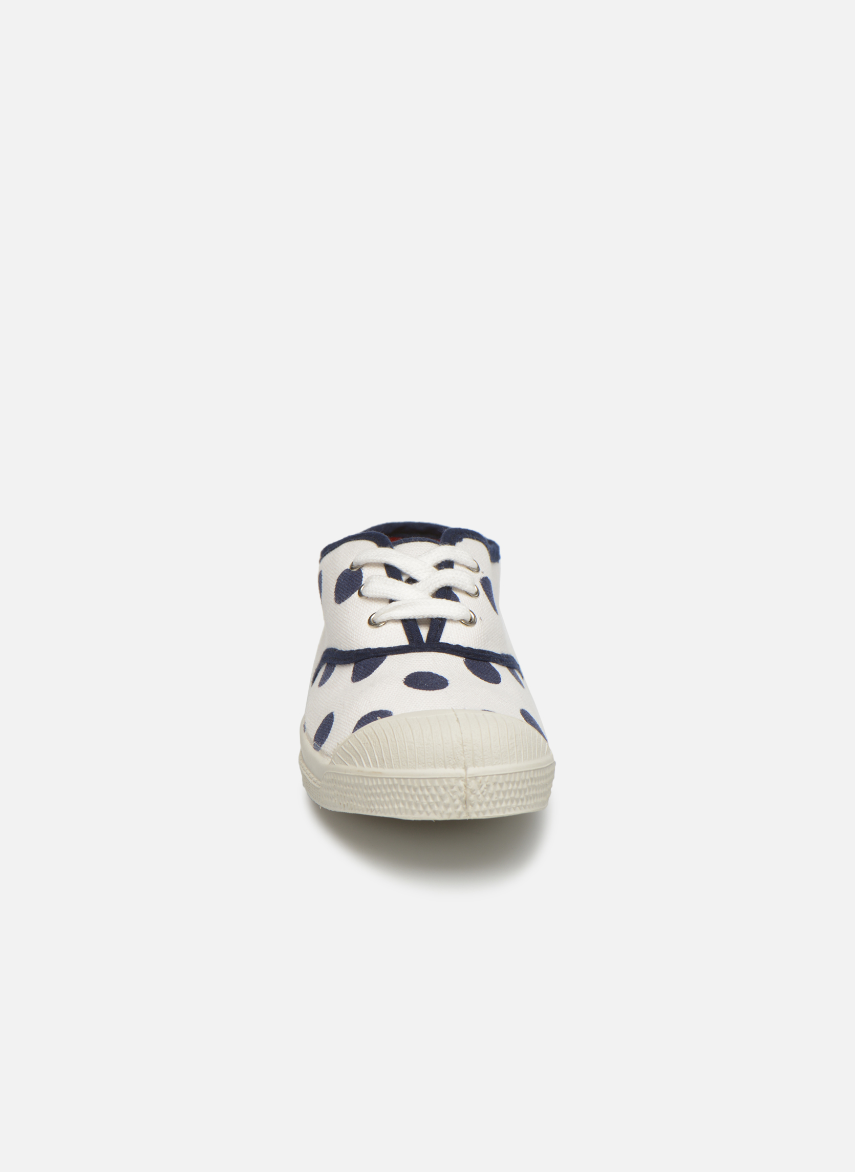 Trainers Bensimon Tennis Pois E White model view