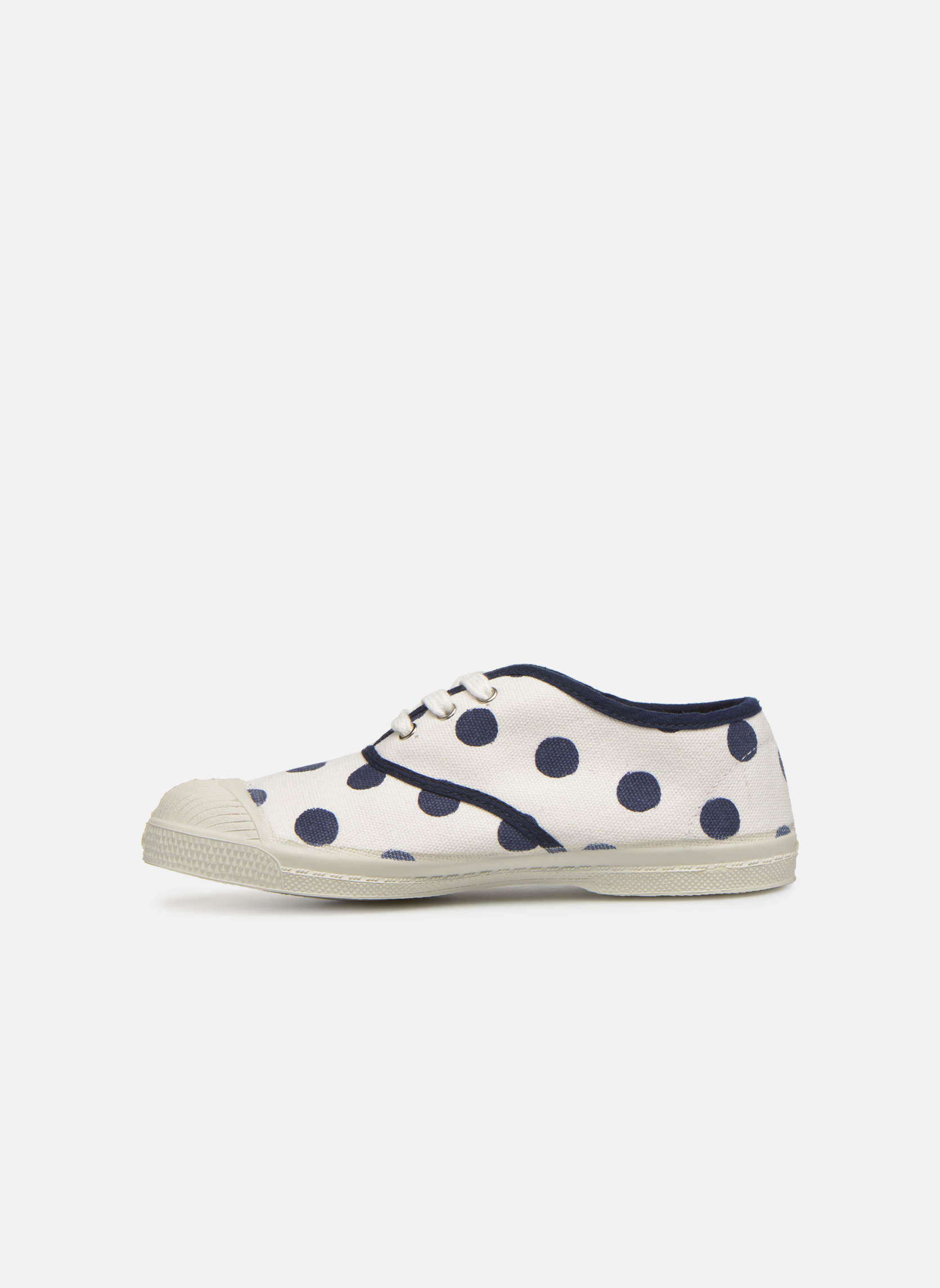 Trainers Bensimon Tennis Pois E White front view
