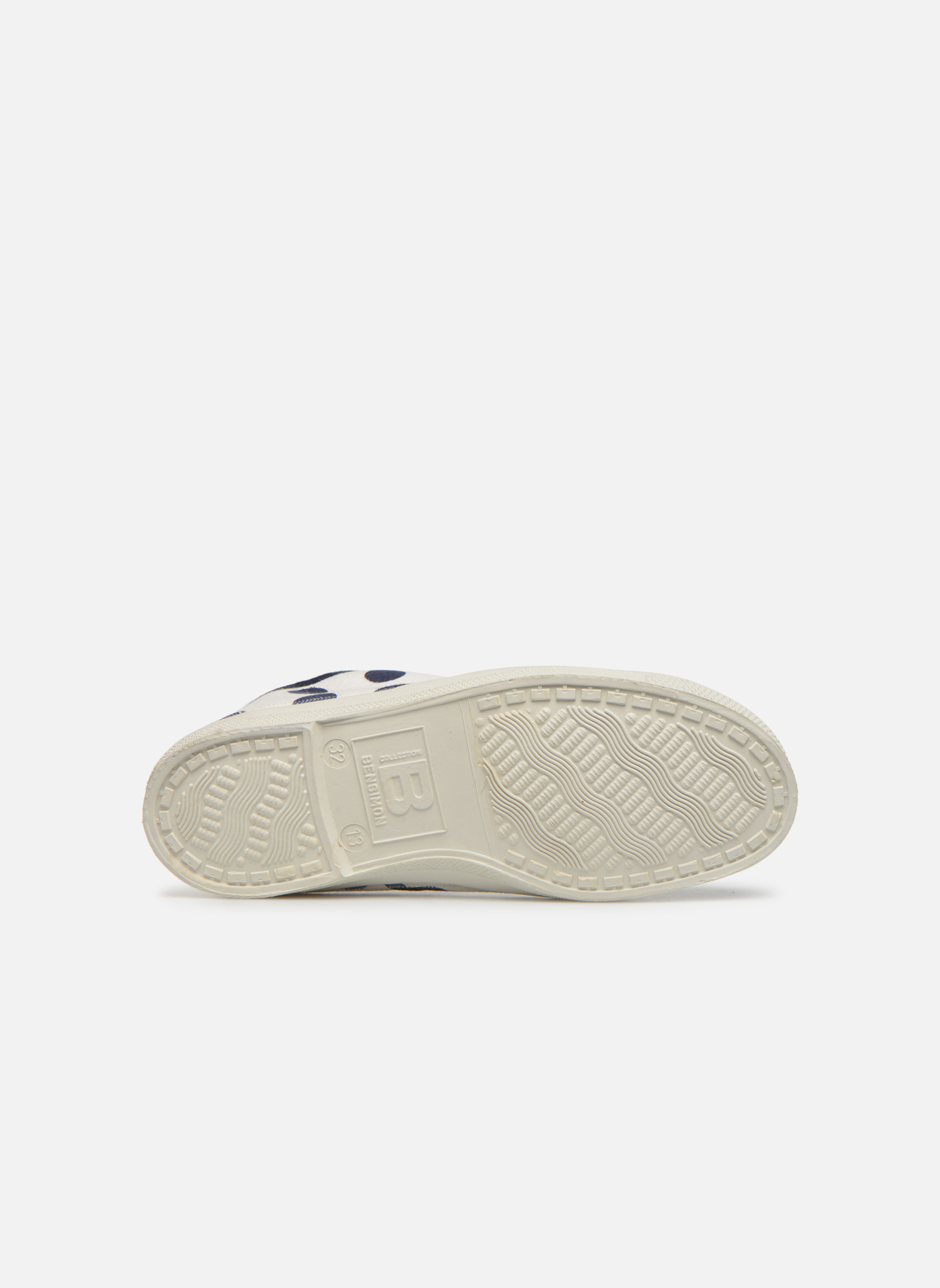 Trainers Bensimon Tennis Pois E White view from above