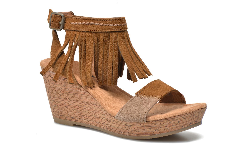 Sandales et nu-pieds Minnetonka Poppy Marron vue détail/paire