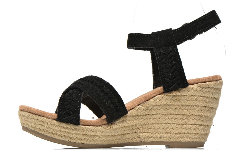 Sandales et nu-pieds Minnetonka Naomi Noir vue face