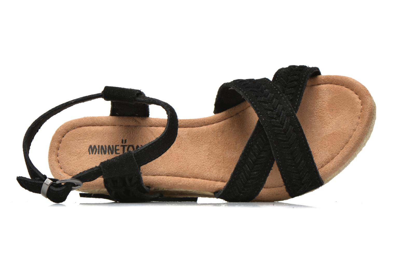 Sandales et nu-pieds Minnetonka Naomi Noir vue gauche