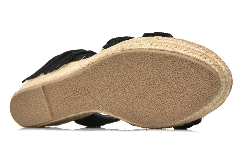 Sandales et nu-pieds Minnetonka Naomi Noir vue haut