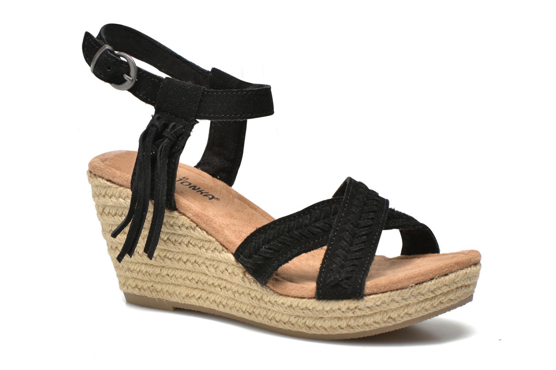 Sandales et nu-pieds Minnetonka Naomi Noir vue détail/paire