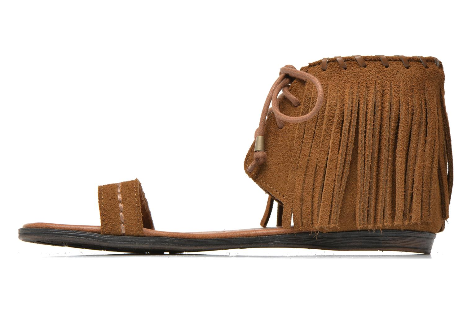Sandals Minnetonka Havana Brown front view
